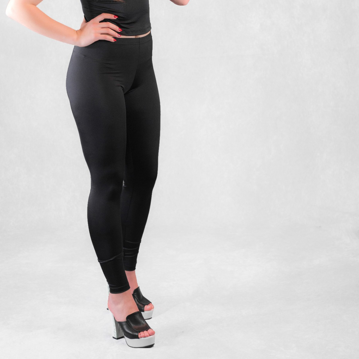 6cffa064b33e3 Shiny Leggings - Black Spandex Leggings