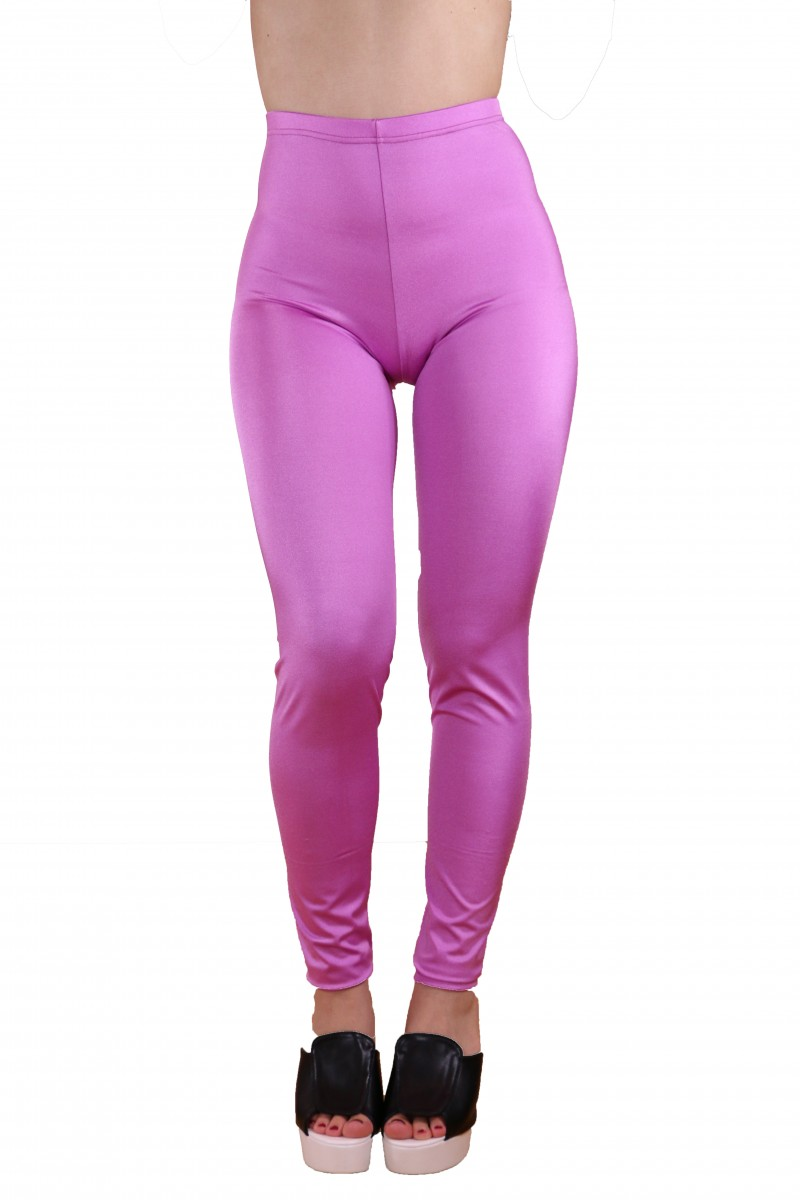 Lavender Pink Shiny Leggings