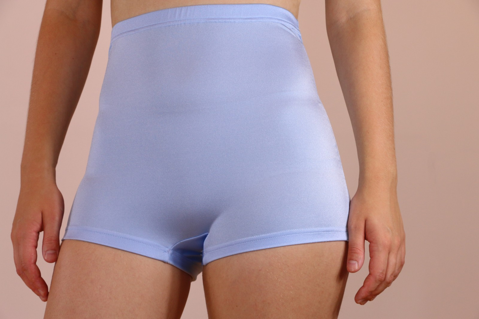 Light Blue High Waisted Hot Pants