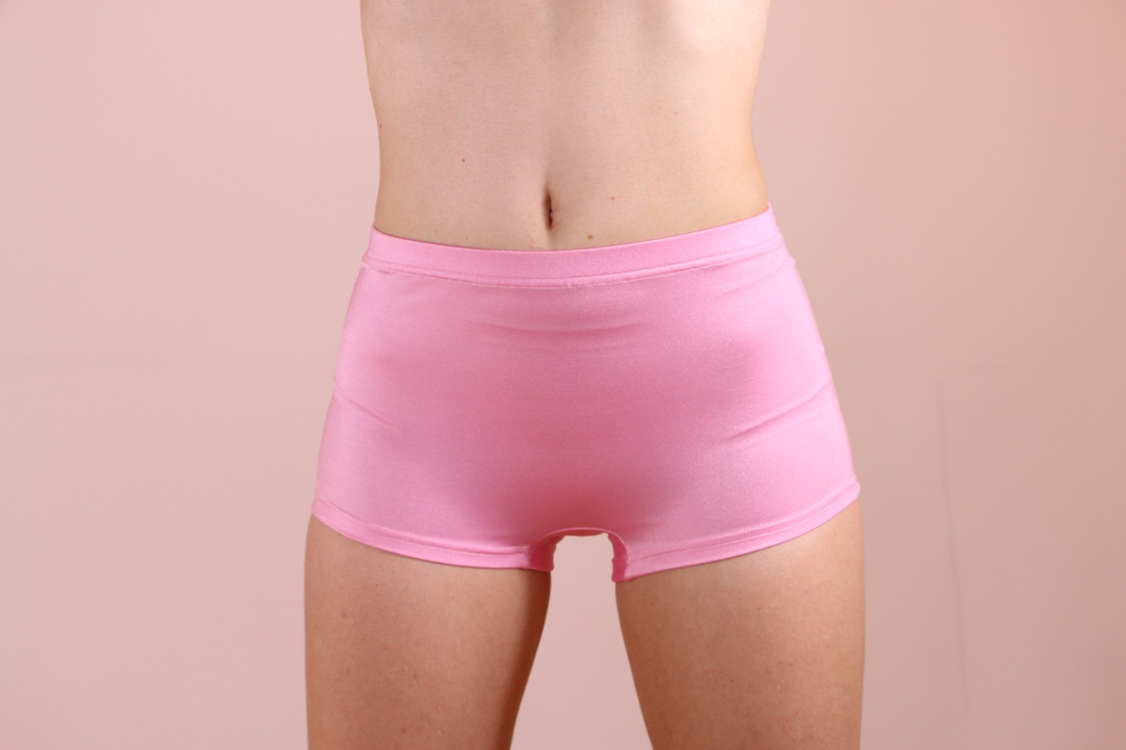 Shiny Flamingo Spandex Shorts