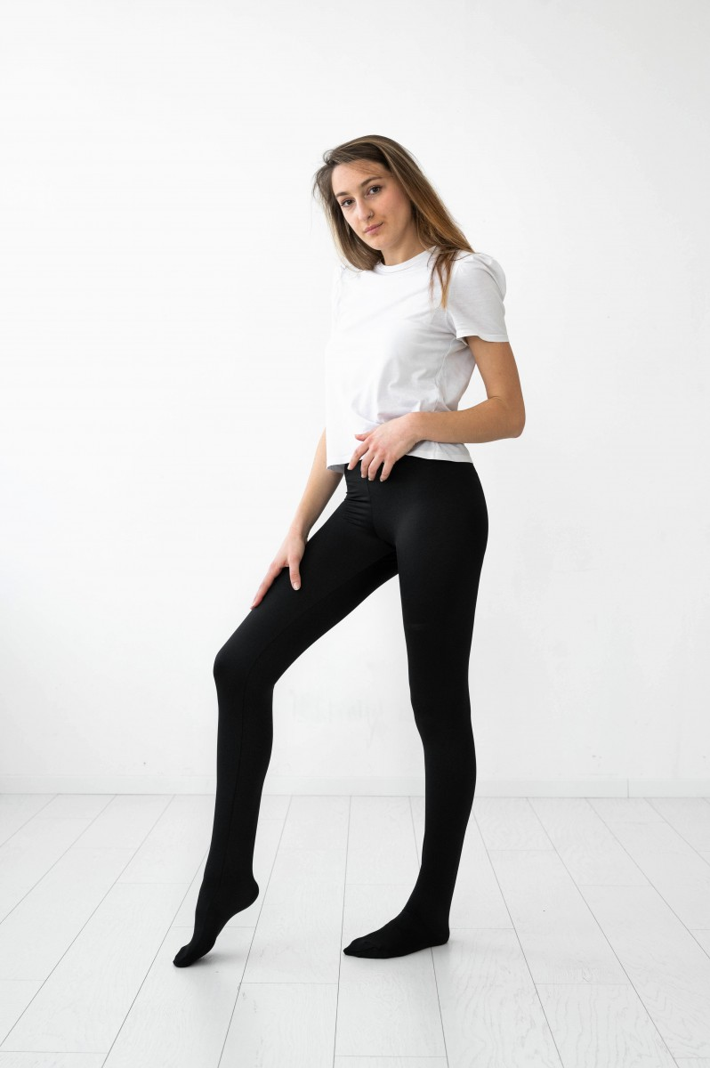 Shiny Spandex Footed Leggings