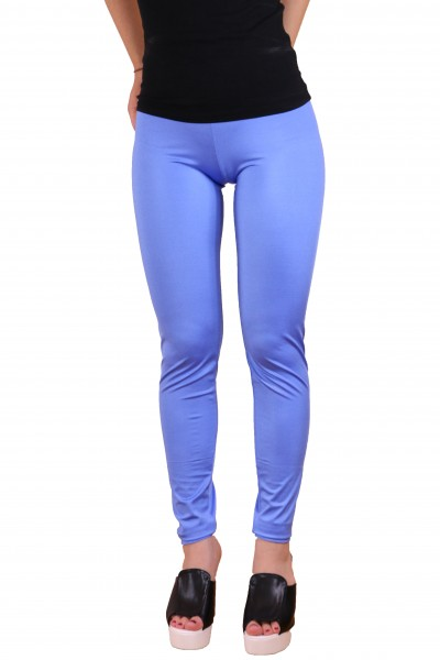 Electric Blue Shiny Leggings