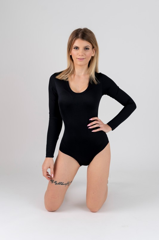 Body in spandex a maniche lunghe