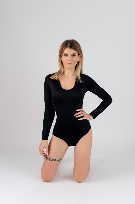 Stretch Bodysuit with Crotch Hooks