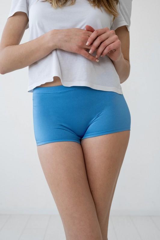 Shiny Electric Blue Spandex Shorts