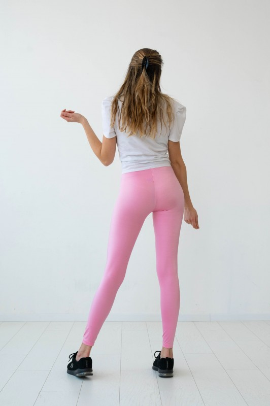 Legging brillant rose flamant rose