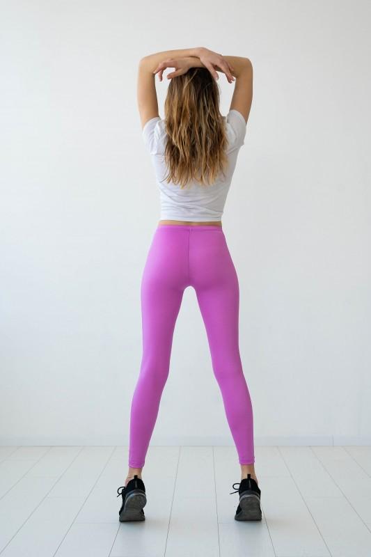 Fuchsia Pink Shiny Leggings