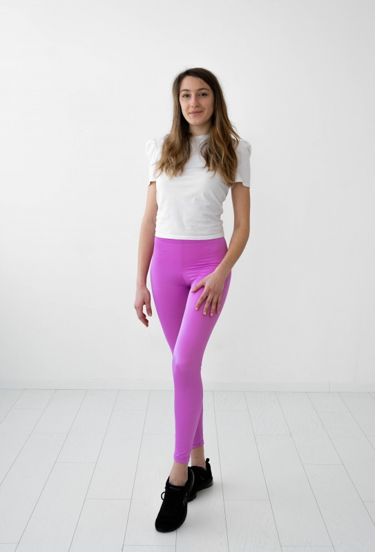 Leggings rosa fucsia brillante