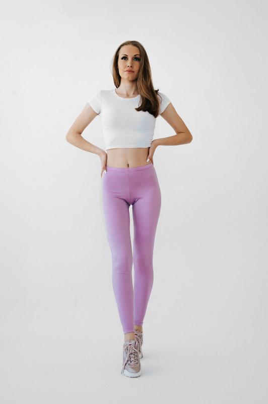 Lavender Pink Shiny Leggings
