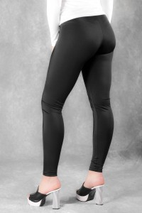 Black spandex leggings